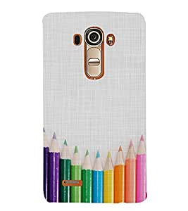 CLOURFULL PENCILS ON A CLOTH PIC 3D Hard Polycarbonate Designer Back Case Cover for LG G4 :: LG G4 H815