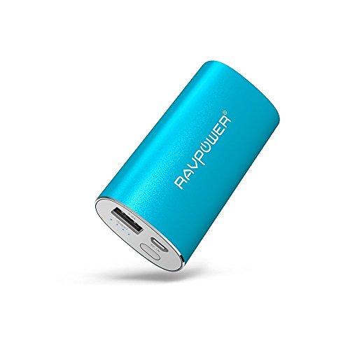 モバイルバッテリー RAVPower 6700mAh スマホ 充電器 (超 コンパクト 軽量 小型 急速充電 )iPhone / iPad / Xperia / Galaxy / Android / タブレット 等対応 iSmart機能搭載(ブルー)