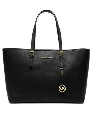 Michael Kors Jet Set Women's Travel Tote Handbag Purse - Black