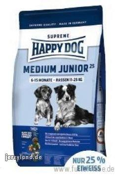 Happy Dog 49110 Hundefutter Surpreme Medium Junior25 10 kg
