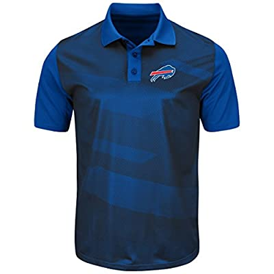 "Buffalo Bills Majestic NFL ""Club Seat"" Men's Short Sleeve Polo Shirt"