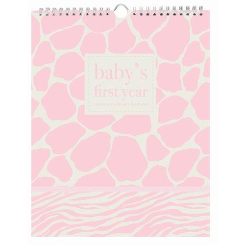 Pepper Pot Baby's First Year Keepsake Calendar, Giraffe Girl