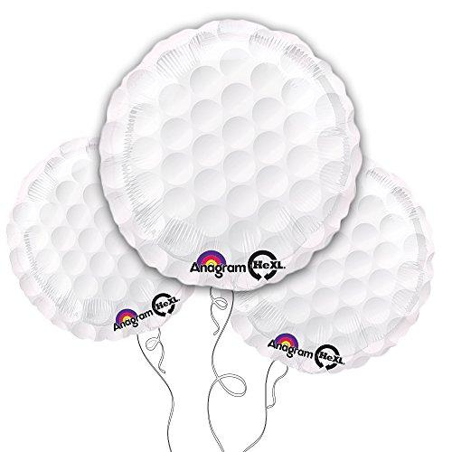 "Golf Ball 18"" Mylar Balloon 3pk - 1"