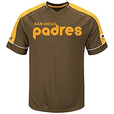 "San Diego Padres Majestic MLB ""Tandem"" Cooperstown V-Neck Men's Fashion Jersey"