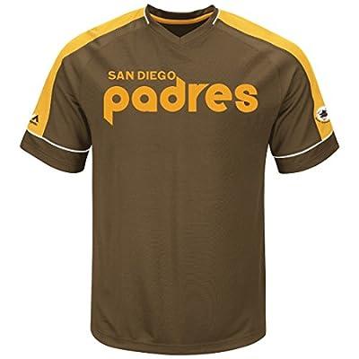 "San Diego Padres Majestic MLB ""Tandem"" Cooperstown V-Neck Men's Fashion Jersey"