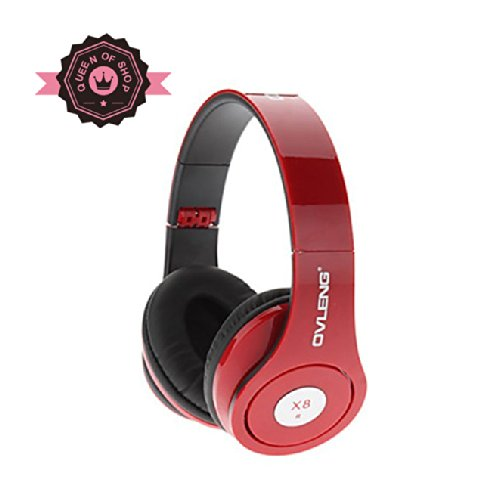 Hot Red Dj Over The Head Stereo Earphone Headphone Handsfree Headsets With In-Line Mic Cable For Apple Iphone 4 4S 5 Samsung Galaxy S3 S 3 Siii Lte Note Note Ii I9300 I9500 S4