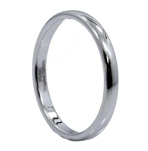 2Mm White Tungsten Carbide Polished Classic Wedding Ring Size 6.5