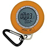 Mini LCD Digital Pedometer Compass Thermometer Time Date Outdoor Hiking Multi-function
