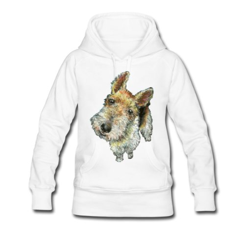 Spreadshirt, wirehairedfoxterrier, Women's Hoodie, white, L