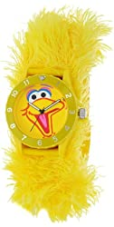Sesame Street Kids' SW4930BB Big Bird Yellow Furry Slap Watch