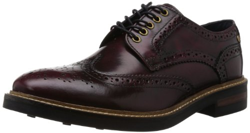 Base London - Woburn, Stringate uomo, color Rosso (532 Hi Shine Bordo), talla 41