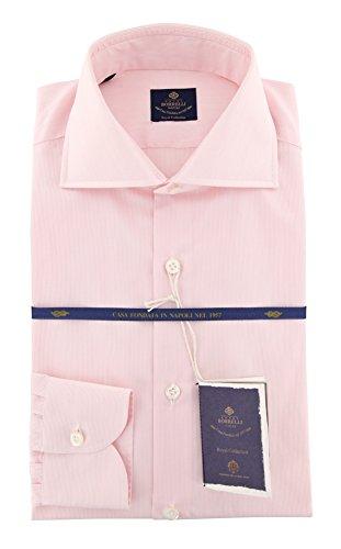 new-luigi-borrelli-pink-striped-extra-slim-shirt