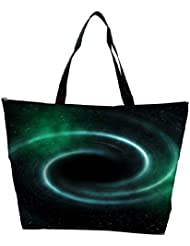 Snoogg Black Hole Universe Background Waterproof Bag Made Of High Strength Nylon