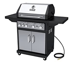 Dyna-Glo Black & Stainless Premium Grills, 4 Burner, Natural Gas
