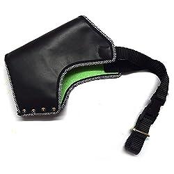 Pawzone Synthetic Leather Dog Black Muzzle-X-Large
