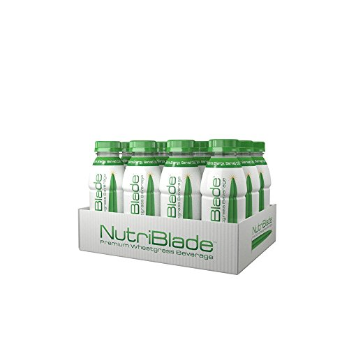 nutriblade Organic Wheatgrass Beverage: Original - Five Shots of Wheatgrass per Bottle: Certified Organic by USDA, Great Taste, Convenient, Superfood Nutrition - #1 in Ready to Drink Wheatgrass (Wheatgrass Juice Powder Bulk compare prices)