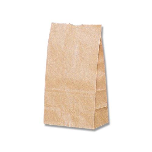 HEIKO Heiko corner bottom bag craft plain (unread bleached plain) No.4 gusset and (100 pieces) (width 13 x high 23.5 x gusset 8 cm) 004010400