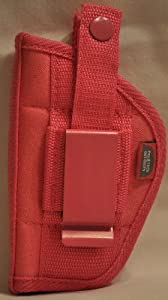 """Ladies Here's One Just for You. Pink Nylon Gun Holster Fits All 5 Shot Revolvers with 1.5"""" to 2.5"""" Barrel"""