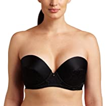 Carnival Womens Low Plunge Tuxedo Bra, Black, 32A