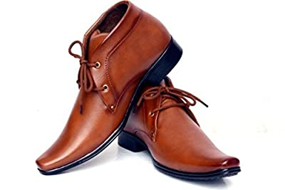 Rock Passion Men's Brown Synthetic Leather Formal Shoes