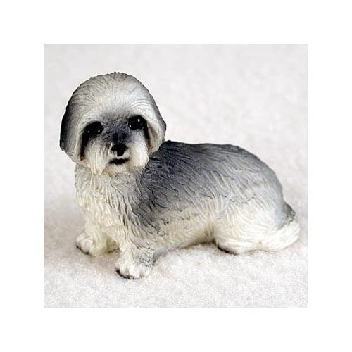 Amazon.com: Lhasa Apso Puppy Cut Miniature Dog Figurine - Gray: Home ...