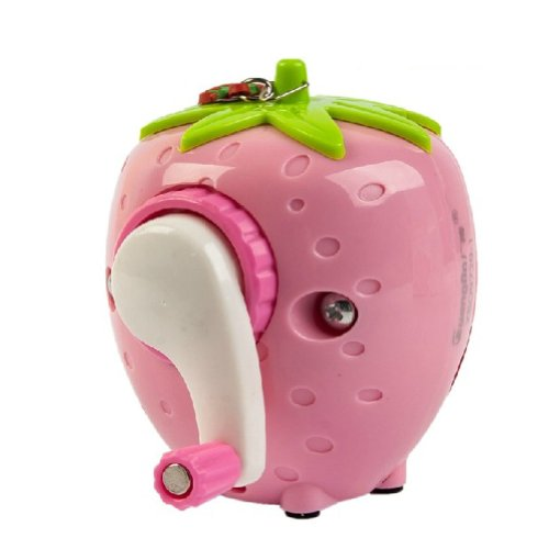 Strawberry Manual Pencil Sharpener For Office And Home Desks Classroom (Pink)