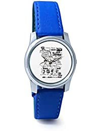 BigOwl Psychedelic Reality Painting Analog Men's Wrist Watch 2114874536-RS2-S-BLU