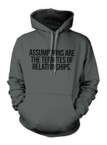 assumptions-are-termites-of-relationships-clever-citazione-felpa-con-cappuccio-grigio-ardesia-xx-lar