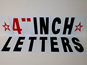 4 INCH LETTERS