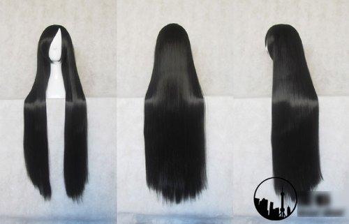tingshop-inuyasha-kikyo-elegant-long-black-perruque-cosplay-droite-cheveux-w-plafond-100cm