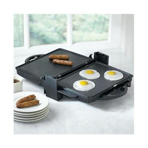 BrylaneHome® Health Contact Unit Indoor Combo Grill & Griddle