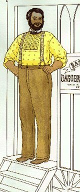 Victorian Men's Pants – Victorian Steampunk Men's Clothing 1850s Classic Plain-Cut Summer Trousers of the Mid-19th Century Pattern $17.95 AT vintagedancer.com
