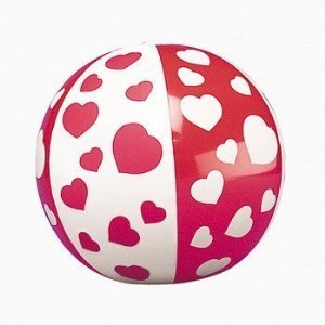 12 Mini HEART Beach Balls/VALENTINE'S Day DECOR/Party FAVORS/DOZEN/5