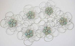 Wall Art - Metal Wall Art - Shabby Chic Flower Cluster