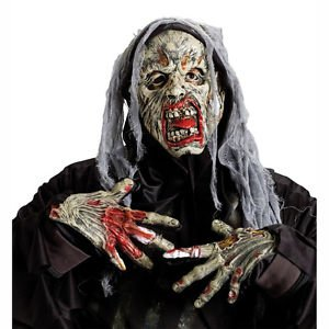 [Cryptic Creatures Red Lip Zombie Adult Costume Mask Fun World FUN8517-RED] (Jack Torrance Costume)