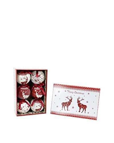 Decoracion Navideña Set Colgante decorativo 6 Uds. Árbol Navidad Ciervos Memory