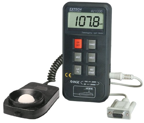 Datalogging Light Meter with PC Interface - Extech - EX-401036 - ISBN: B001AGQC5A - ISBN-13: 0793950410363