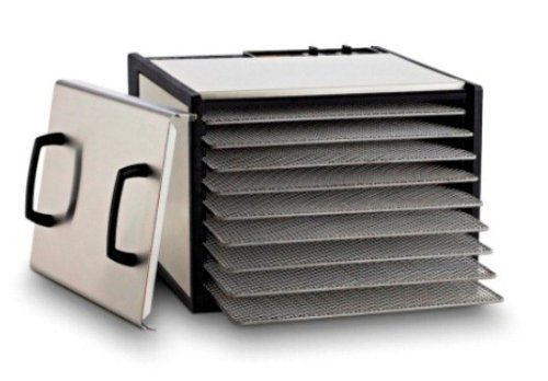 Excalibur 9-Tray Stainless Steel Dehydrator w/Stainless Steel Trays and Door Model D900SHD (Dehydrators Stainless compare prices)