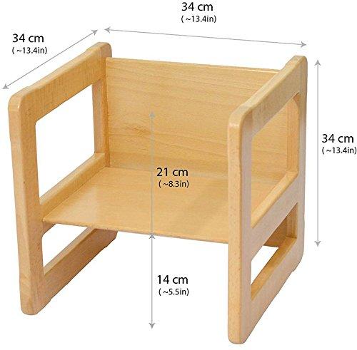 3 en 1 muebles para ni os de madera de la haya ligera - Mesa y sillas para ninos de madera ...