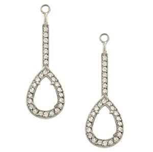Pear Shape Pave Diamond Earring Jackets .50cttw (CZ ct