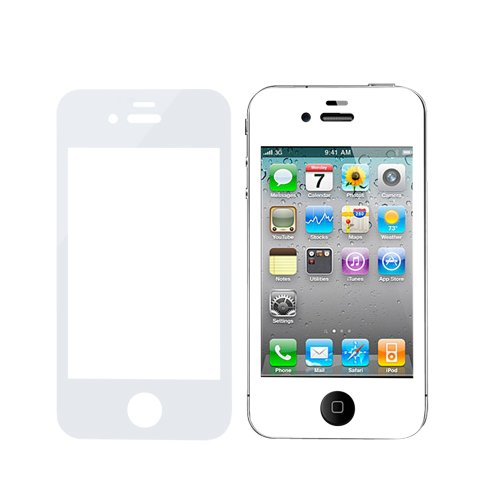 Coolbo Beautiful Phone Tempered Glass Protection Screen For Iphone 4 4S (White)