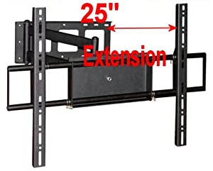 "Mount-It! Universal Wall Mount Bracket Extends 25"", Tilts, Swivels for Sony Bravia, Panasonic, LG, Samsung, Vizio, Haier, Hitachi, Mitsubishi flat panel displays"