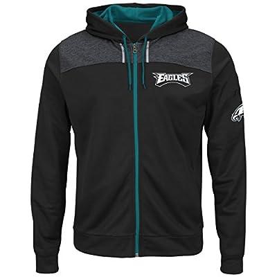 "Philadelphia Eagles Majestic NFL ""Game Elite"" Men's Full Zip Hooded Sweatshirt"