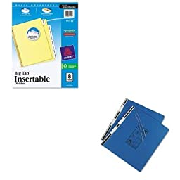 KITAVE11112UNV15442 - Value Kit - Universal Pressboard Hanging Data Binder (UNV15442) and Avery WorkSaver Big Tab Reinforced Dividers W/ Clear Tabs (AVE11112)