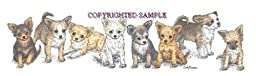 Chihuahua - Puppies in a Row by Cindy Farmer, Longhair