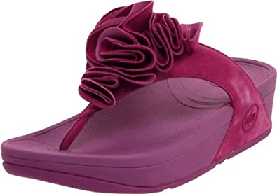 FitFlop Women's Frou Thong Sandal,Cosmic Purple,8 M US