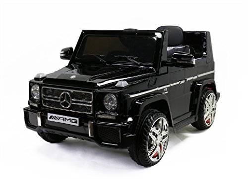 licensed mercedes benz g65 kids ride on powered wheels car rc remote black little kid cars