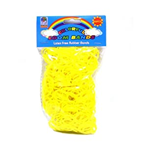 Loom Bandz - Rainbow Colours - Yellow 600 Count With Clips