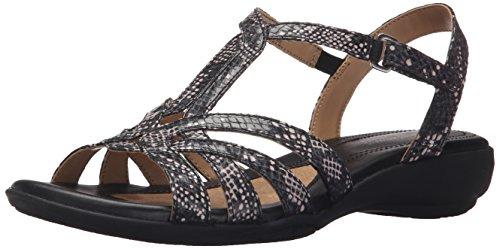 Naturalizer Women's Cassie Gladiator Sandal, Black/Multi, 7 M US (Naturalizer Womens Sandals compare prices)