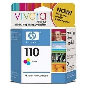 HP 110 Tri-Color Ink Cartridge. HP 110 TRICOLOR VIVERA INK CART EAS SENSORMATIC P-SUPL. Color - Inkjet - 55 Page